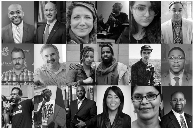 Incoming President Donald Trump and 19 Philadelphia faces of the resistance