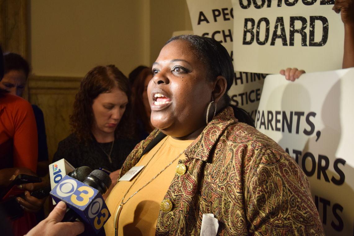 Some members of the 'People's School Board Slate' air their views