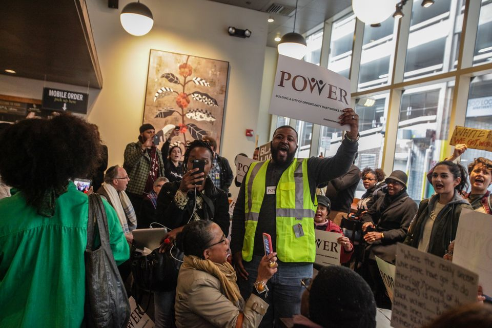 Clergy stage sit-in at Philadelphia Starbucks over arrest of two black men