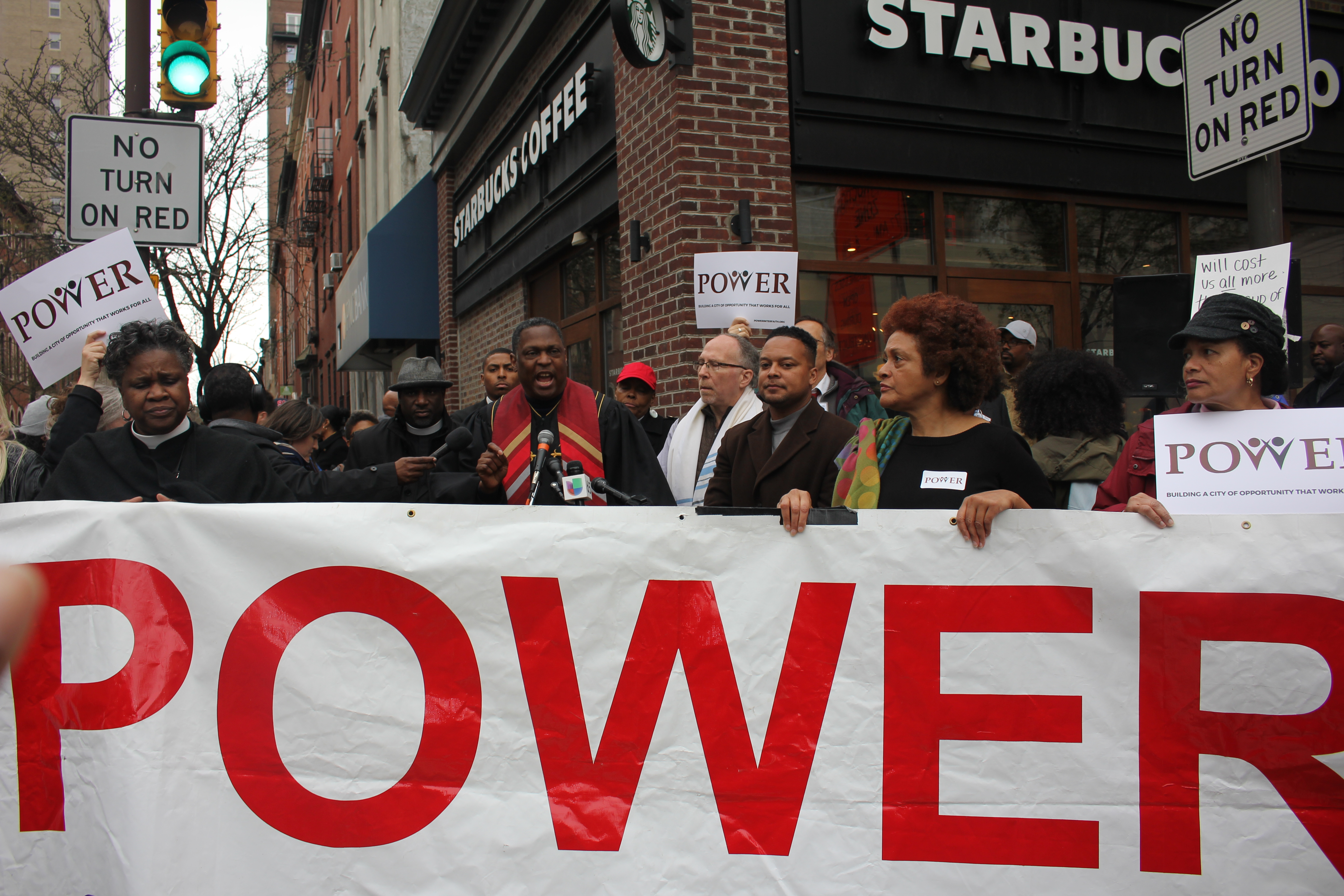 Cafe shut down after protesters enter, chanting 'Starbucks coffee is anti-black!'